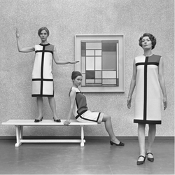 Mondrian dresses by Yves St Laurent (1966)
