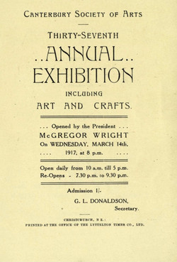 In 1917 Goldie painted then exhibited this work in the Canterbury Society of Arts Annual Exhibition