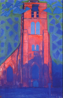 Church tower at Domburg | Piet Mondrian | 1911 | Netherlands