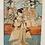 Thumbnail: Toyokuni |  Three Geisha's Japanese woodblock