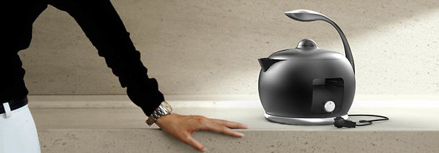 Portfolio of Tirdad Kiamanesh, innovative Product and Industrial Designer. Kettle, designed for Indesit - Hotpoint