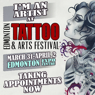 We're at the Edmonton Tatttoo & Arts Festival!