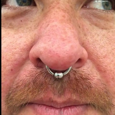 Large gauge Septum Piercing