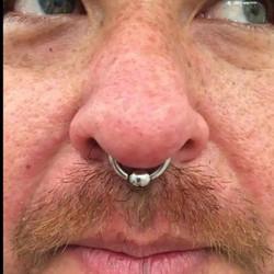 Large gauge Septum Piercing