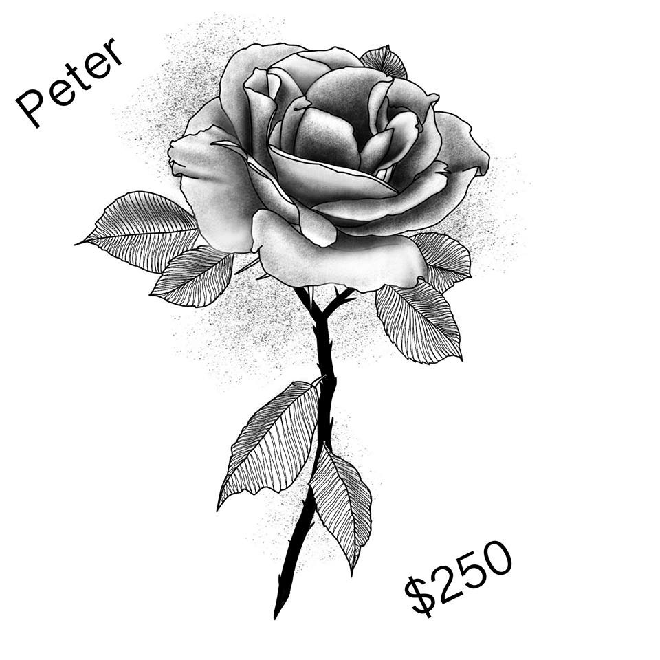 Black and grey rose by Peter