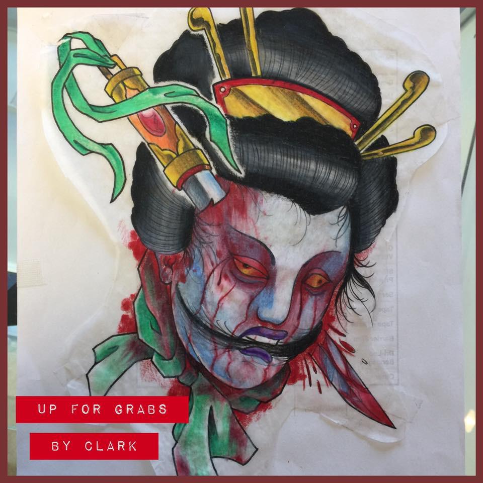 Geisha head by Clark