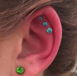 Triple helix piercings