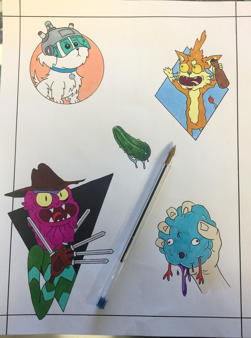 Rick and Morty Tattoo Flash Available! $100/each