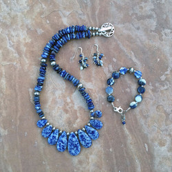 Sodalite and Sterling Silver