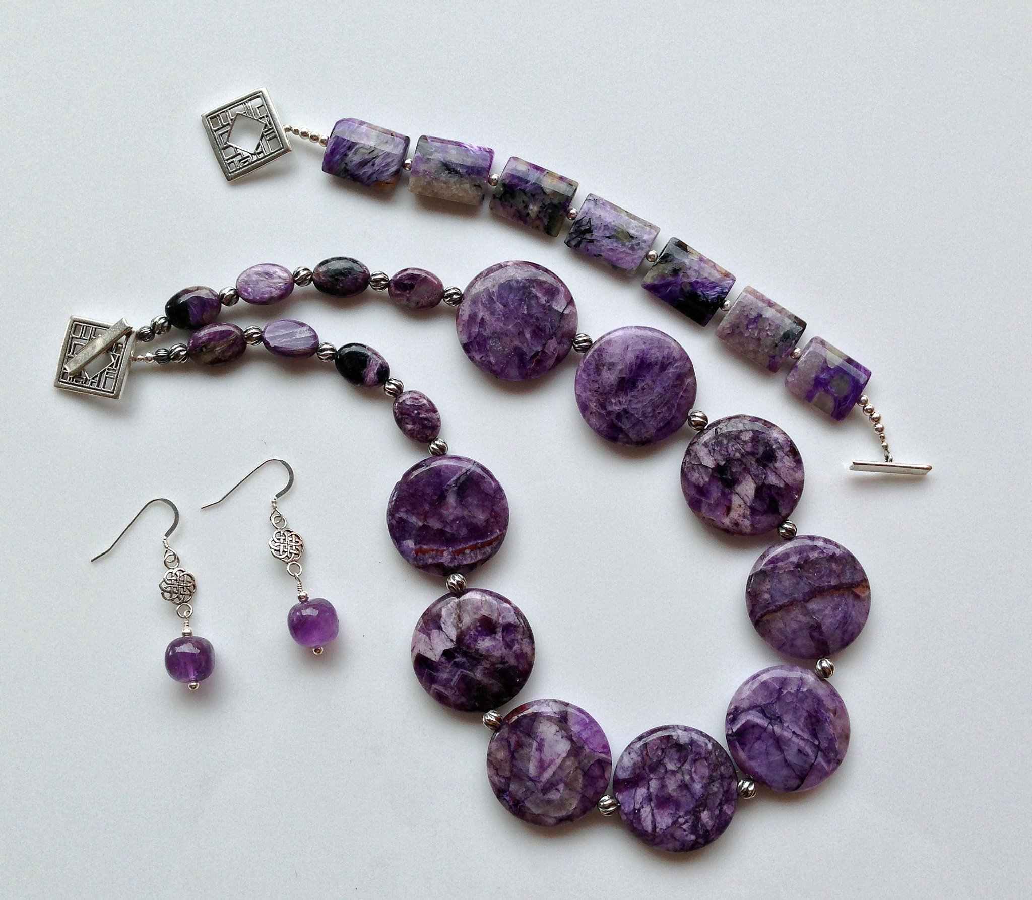 Charoite and Sterling Silver