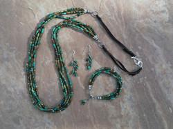 Tibetan Turquoise and Deerskin