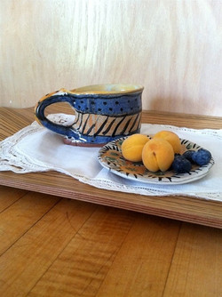 Funky Cup and Saucer