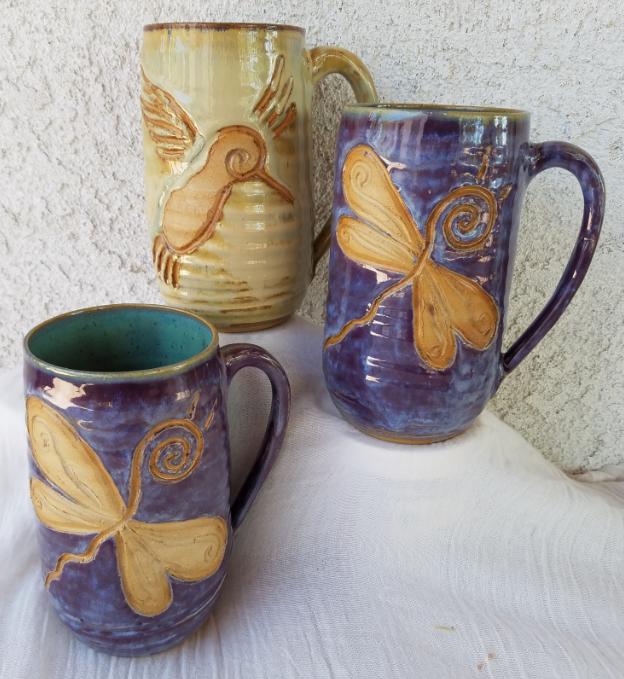 dragonfly mugs