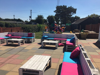 Outside seating area for the Summer
