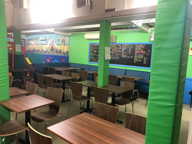 New cafe seating area
