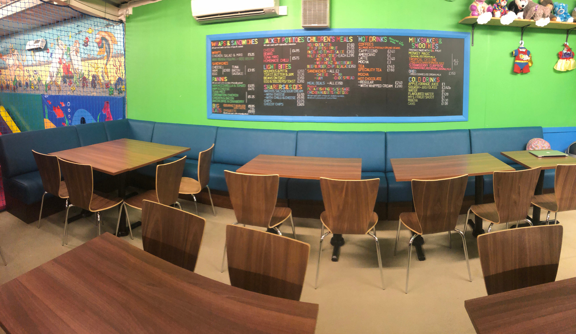 New banquette seating Panoramic