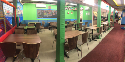New cafe seating area - Panoramic