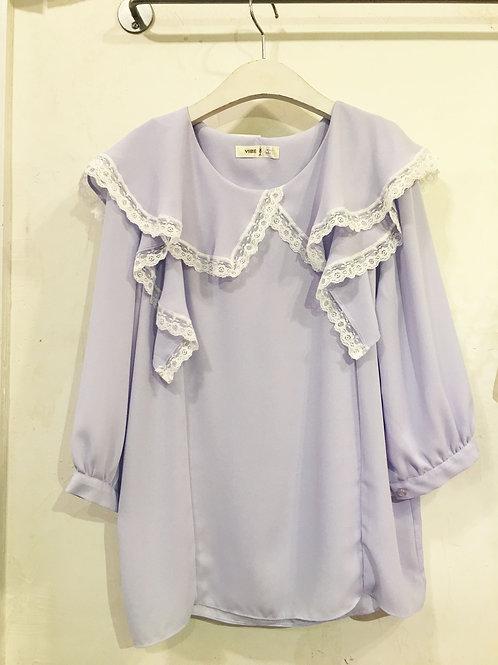 Lacey Lavender Blouse