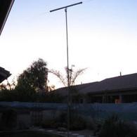 Dipole on telescoping mast at 25