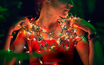 Retrato Luces Lights light christmas portrait