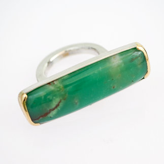 Ring Silber, Gold mit Chrysopras von gudRun flügge - zu erwerben - PA079550.jpg