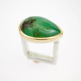 Ring Silber, Gold mit Chrysopras von gudRun flügge - zu erwerben - PA079544.jpg