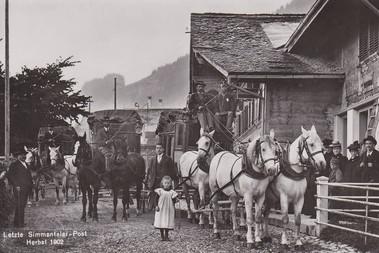 Letzte Simmentaler Postkutsche 1902