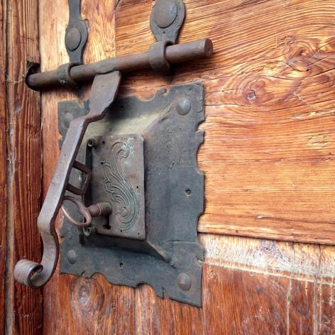Schloss einer Kellertür
