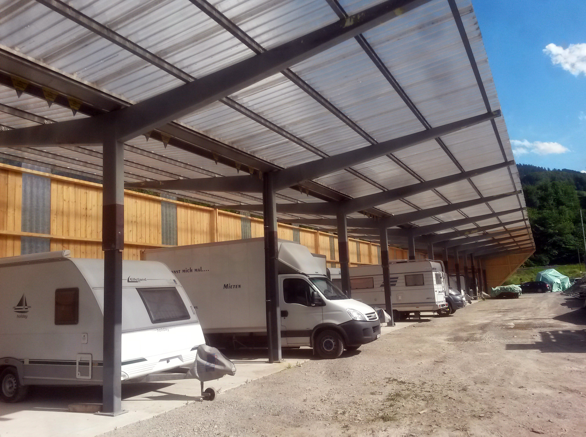 Stahlbau Lagerhalle
