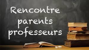 Réunion parents-professeurs le 15/9 à partir de 16h30