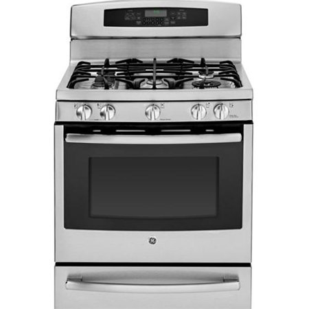 "GE Profile Series 30"" Stainless Gas Range"