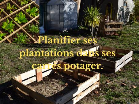 Planifier ses plantations dans ses carrés potager.