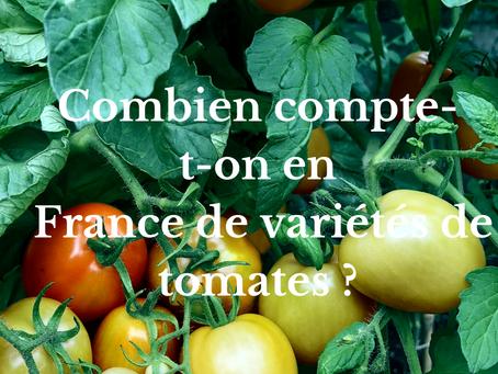 Combien compte-t-on en  France de variétés de tomates ?
