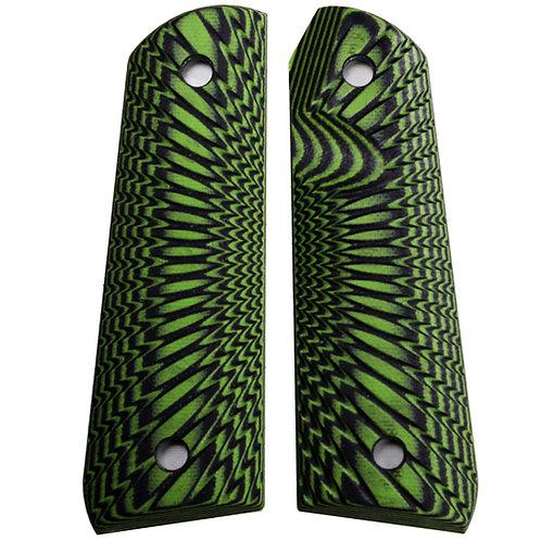 Neon Green Black Starburst