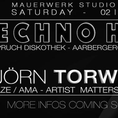 Samstag, 2. November 2019 - Einspruch Diskothek, Bern Mauerwerk Studio presents:  BJÖRN TORWELLEN (DE)