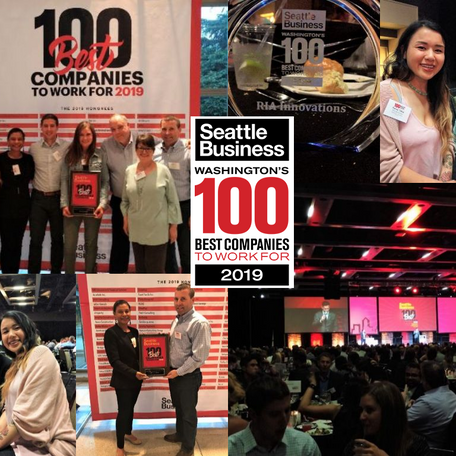 RIA Innovations Named in Seattle Business Magazine 100 Best Companies to Work For