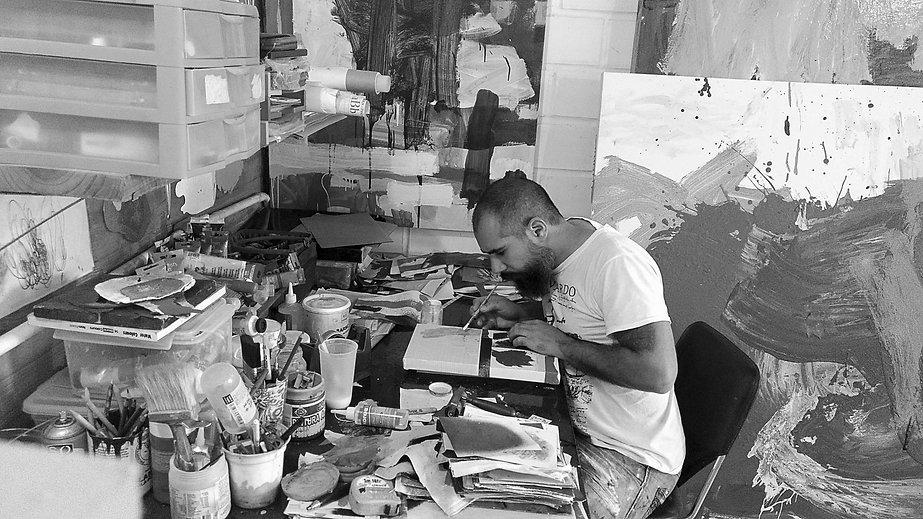 Paul Parrella Retrato en taller 2018 baj