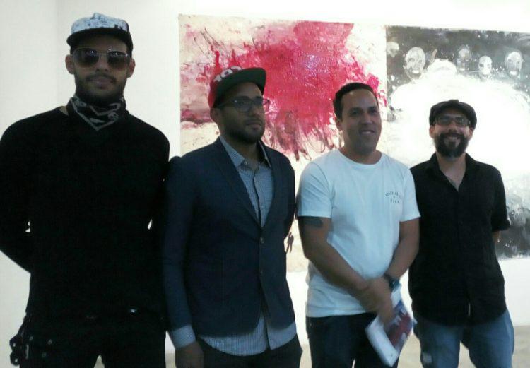 Los artistas Enay Ferrer, Starsky Brines, José Vivenes y Paúl Parrella Foto: Génesis Romero