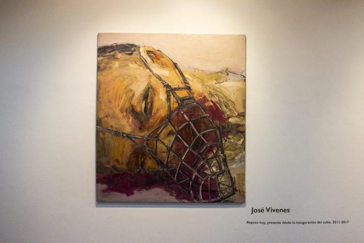 """""""Reposo hoy presente desde la inauguración del culto"""" de José Vívenes Foto: Ezequiel Carías"""