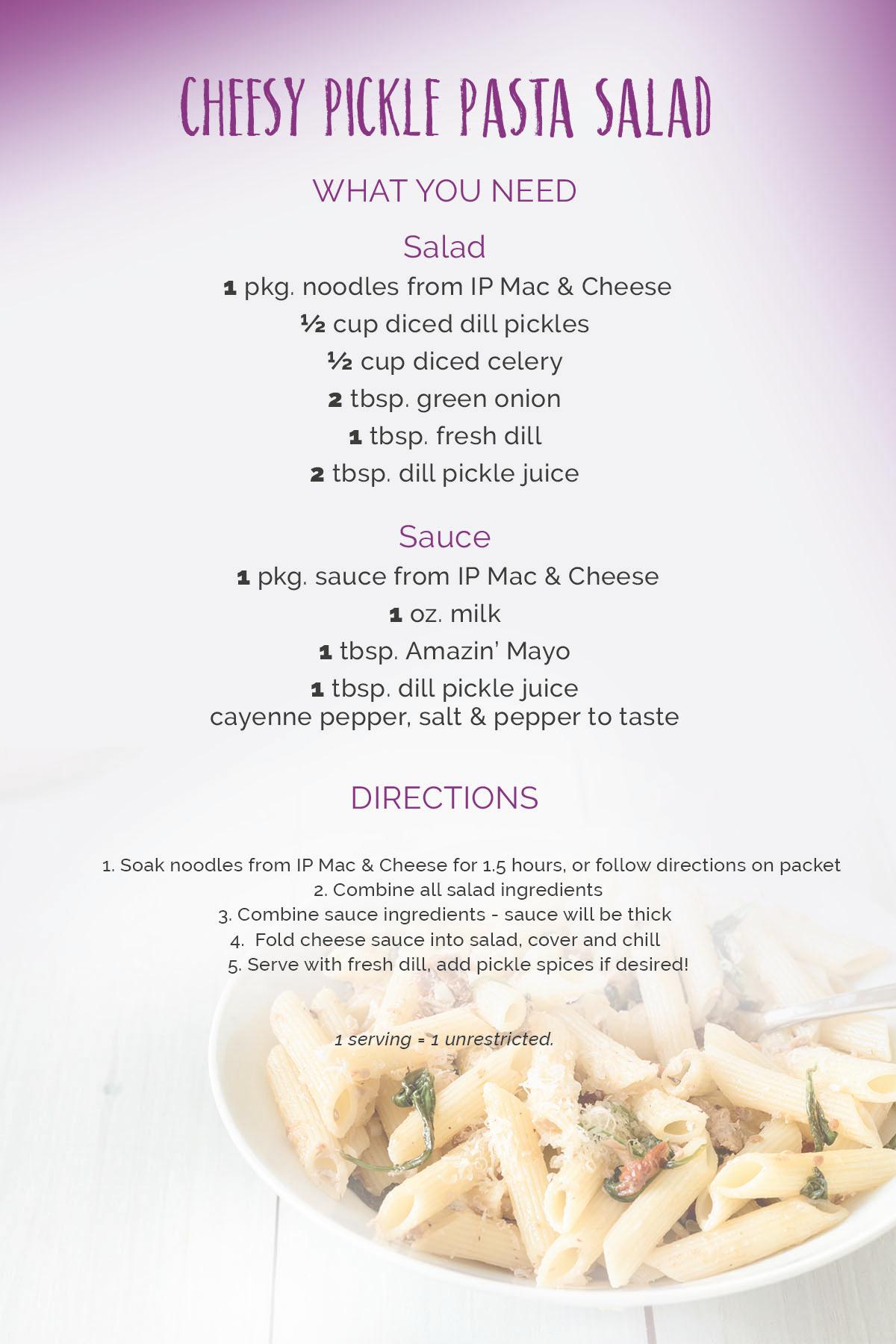 cheesy pickle salad