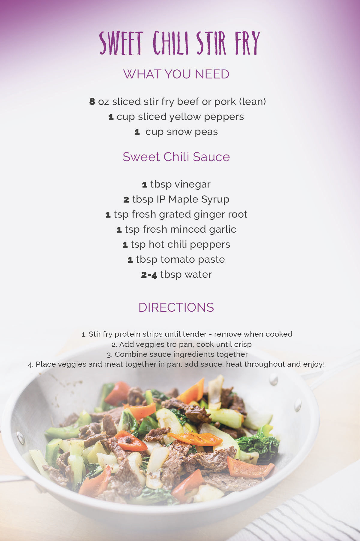 sweet chili stir fry