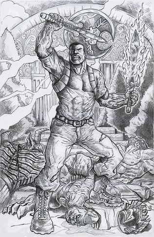 Bonkz Art-Ra standing on a slew of bodie