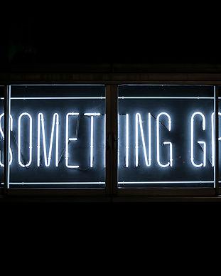 """Neonskylt """"Do something great"""""""