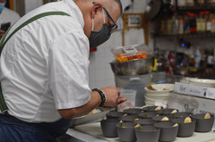 Chef Alex prepping for a private event