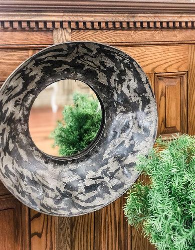 Rustic Round Mirror