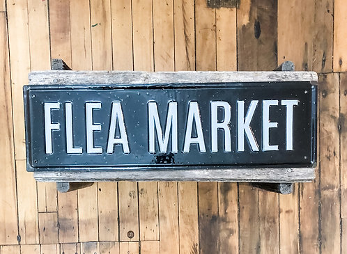 Enamel Flea Market Sign