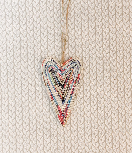 Mini Hanging Paper Heart