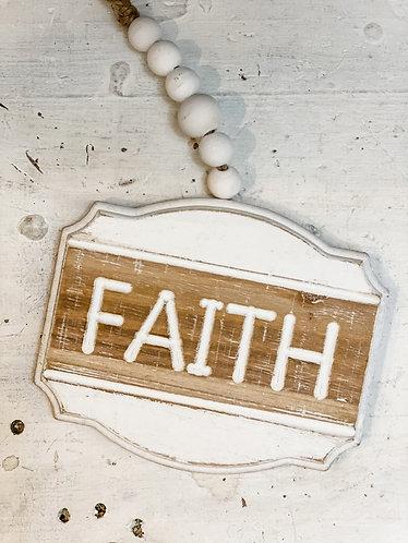 Wood Faith Sign