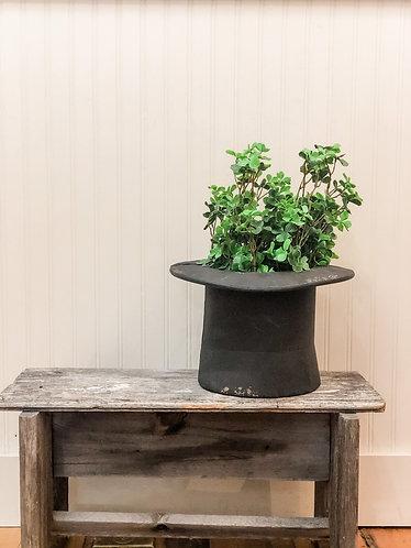 Metal Top Hat Planter