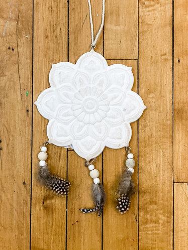 Wood Floral Mandala